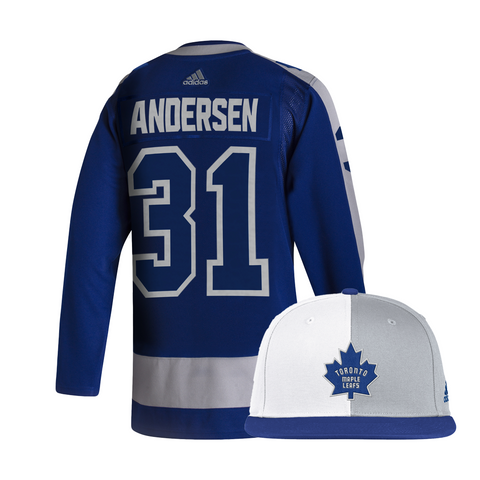 Maple Leafs Adidas Authentic Men's Reverse Retro Jersey + Snapback - Andersen