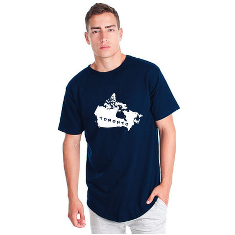 Toronto Argos Men's Map Navy Drop Tee