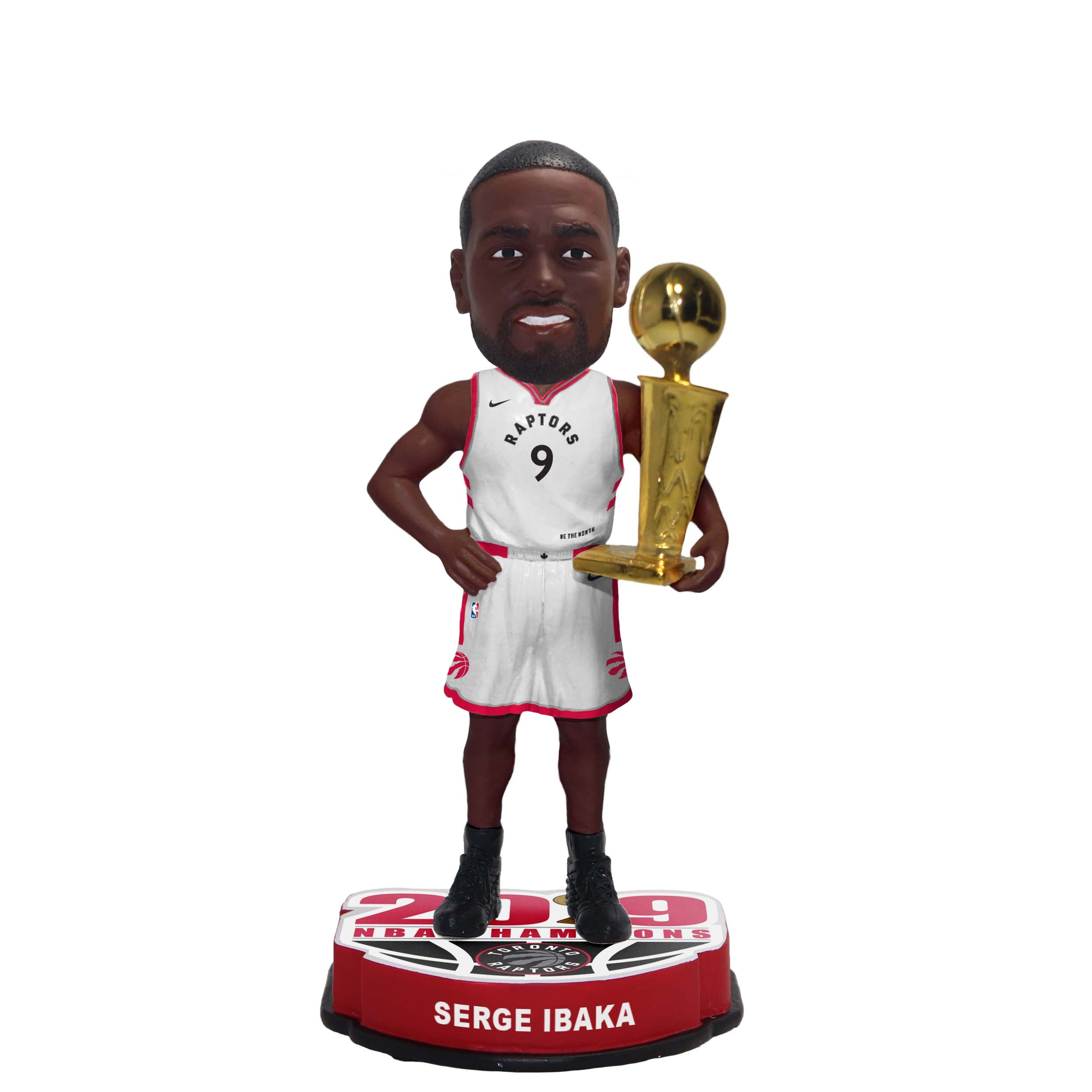 "Raptors 2019 NBA Champs 8"" Bobblehead - IBAKA"