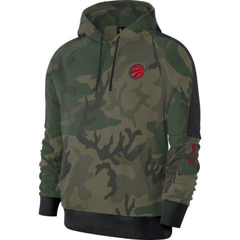 Raptors Nike Men's Courtside Camo Print Hoody