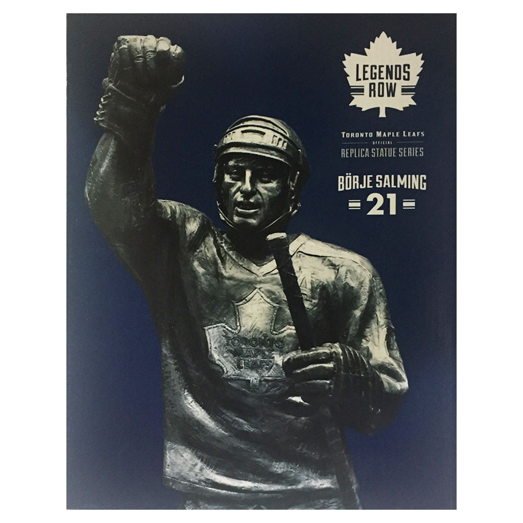"Toronto Maple Leafs 10"" Salming Legends Row Bronze Replica Figurine - shop.realsports - 2"