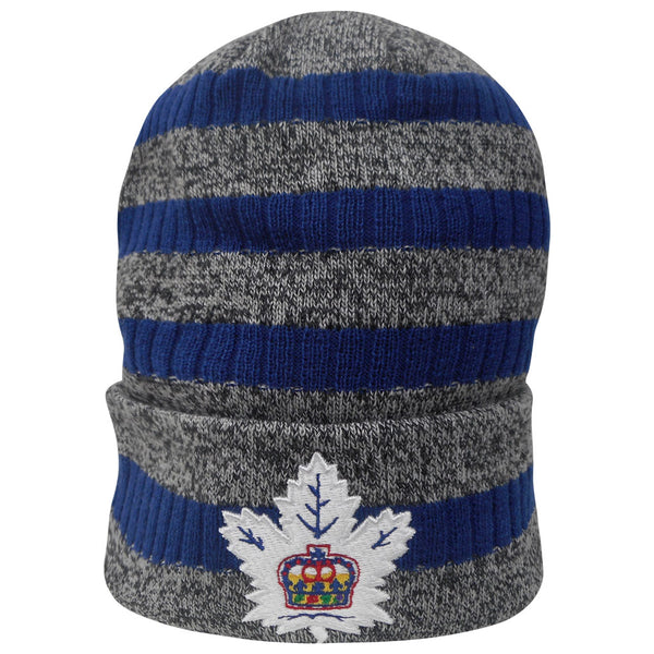 Toronto Marlies Adult Striped Heathered Cuffed Beanie