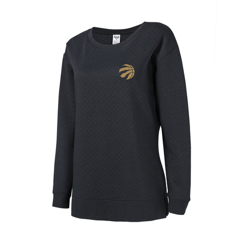 Raptors Ladies City Lunar Quilted Crew