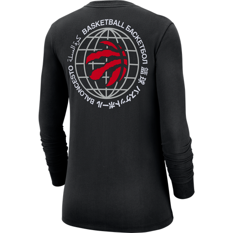 Raptors Ladies Nike Courtside World Long Sleeve