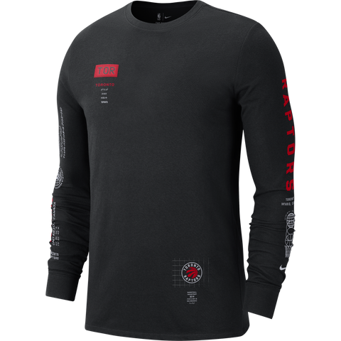 Raptors Nike Men's Courtside Global Long Sleeve