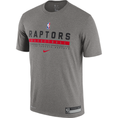Raptors Nike Men's Authentic Practice Tee - Grey