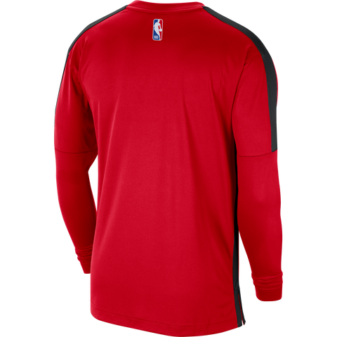 Raptors Nike Men's Authentic Long Sleeve Shooting Top - Red