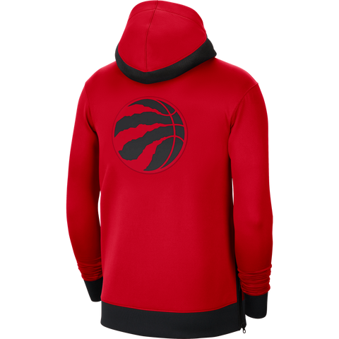 Raptors Nike Men's Authentic Therma Flex Showtime Full Zip Hoody - Red