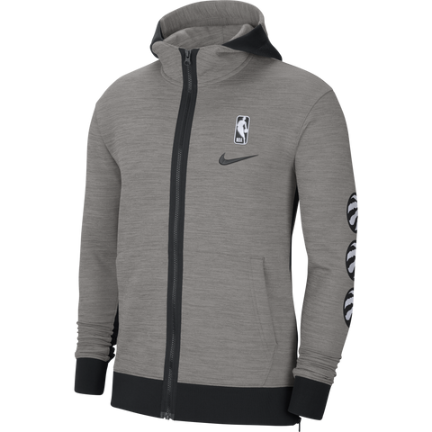 Raptors Nike Men's Authentic Therma Flex Showtime Full Zip Hoody - Grey