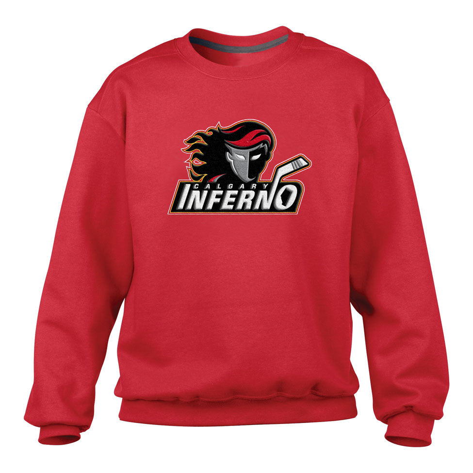 Calgary Inferno Men's Red Crewneck Sweater - shop.realsports