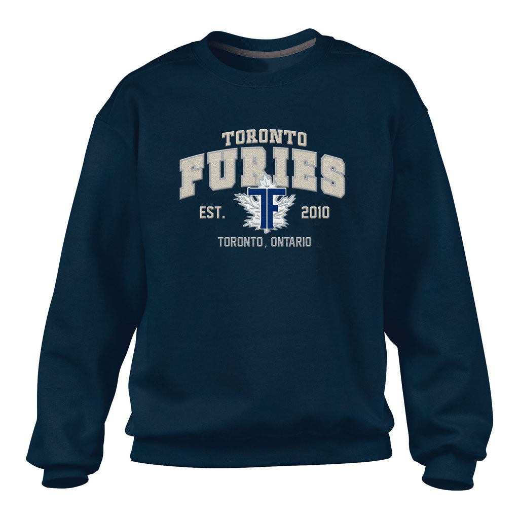 Toronto Furies Men's Navy Crewneck Sweater - shop.realsports