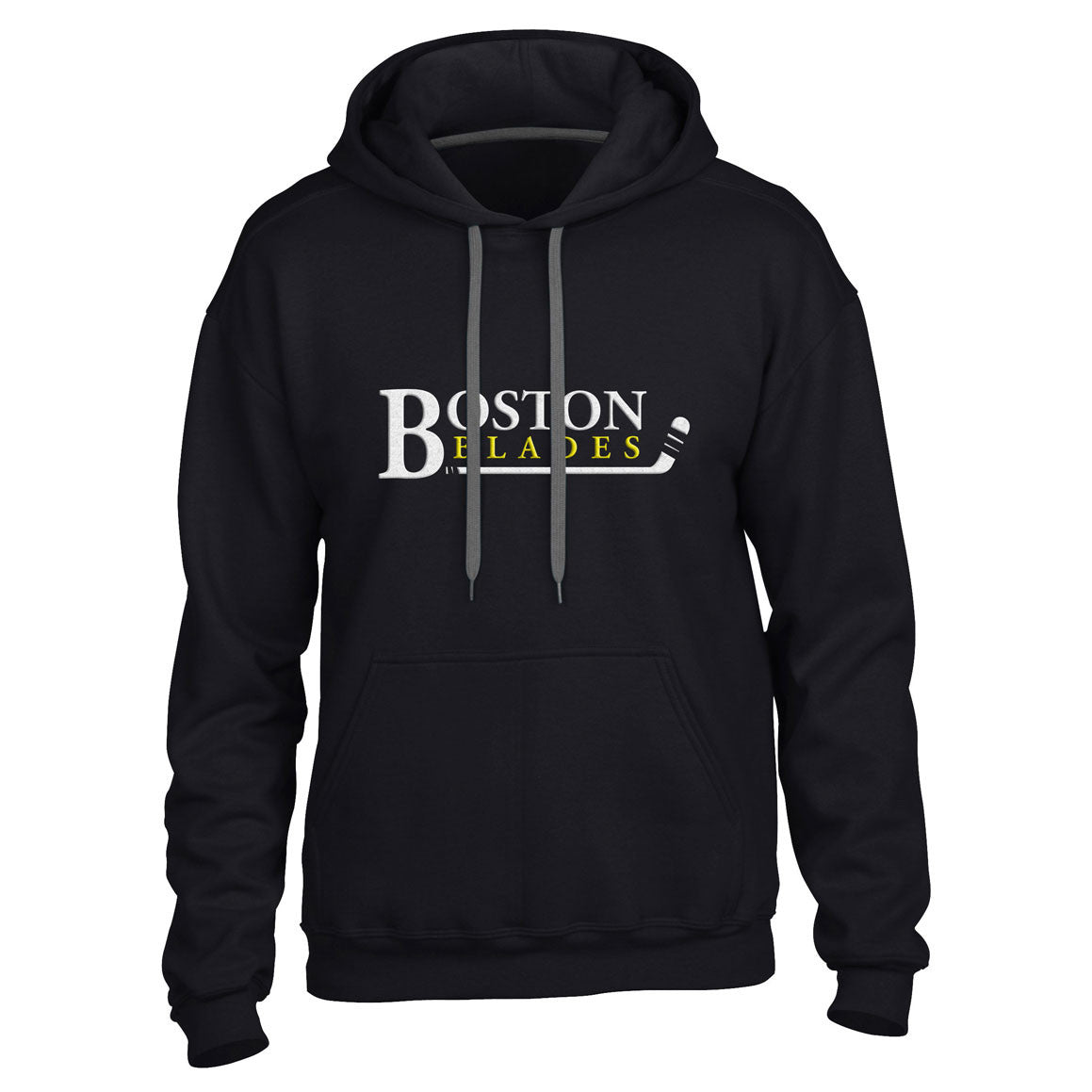 Boston Blades Men's Black Pullover Hoody - shop.realsports