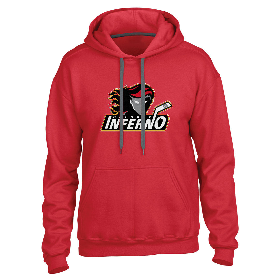 Calgary Inferno Men's Red Pullover Hoody - shop.realsports