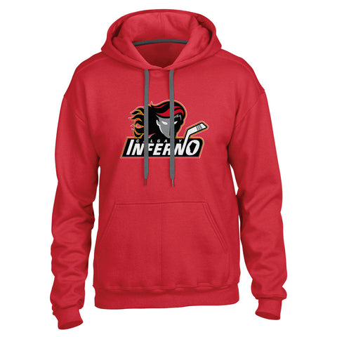 Calgary Inferno Men's Red Pullover Hoody