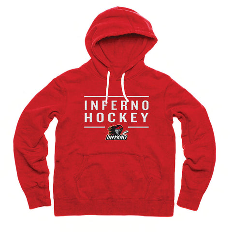 Calgary Inferno Adult Red Embroidered Fashion Hoody
