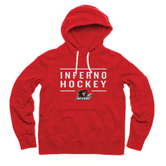 Calgary Inferno Adult Red Embroidered Fashion Hoody - shop.realsports