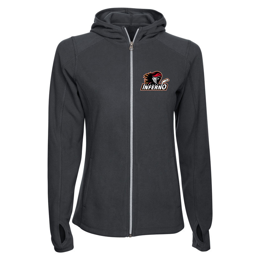 Calgary Inferno Ladies Fleece Jacket - shop.realsports