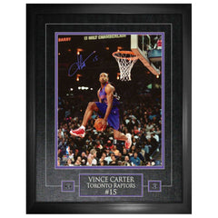 "Vince Carter Signed  ""Purple Jersey Dunking"" 16""X20"" Photo Framed"