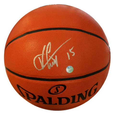 Vince Carter Signed Basketball with Acrylic Case
