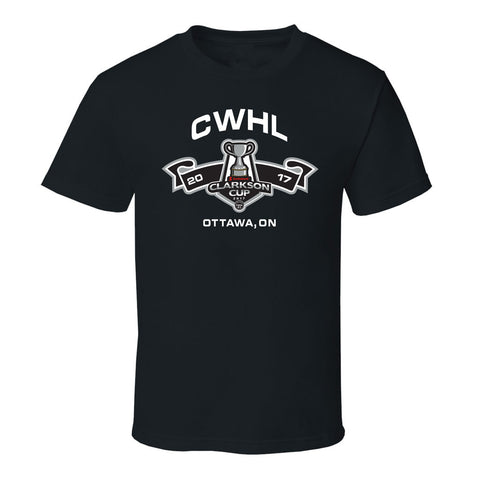 Clarkson Cup Adult Black T-Shirt