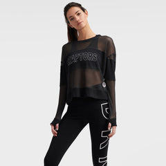 Raptors DKNY Ladies Kaitland Mesh Long Sleeve