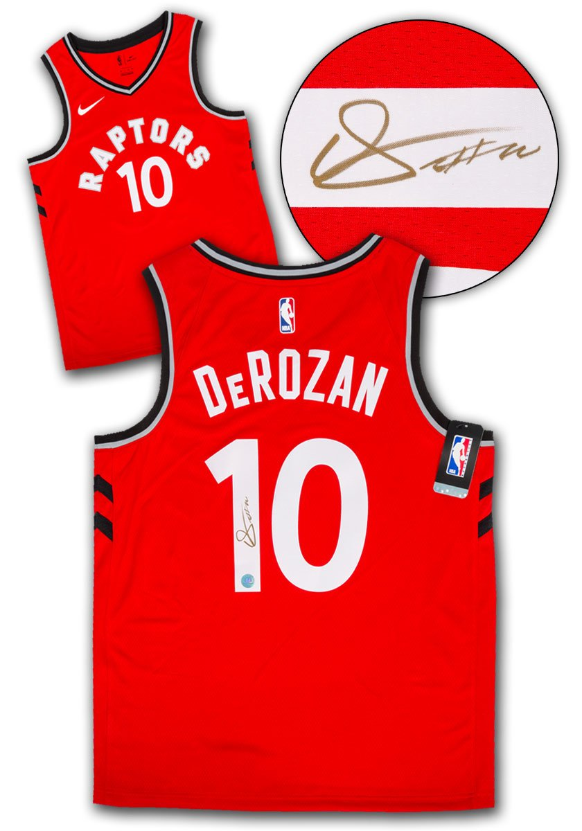 69e2cd4256f DeRozan Signed Nike Icon Jersey – shop.realsports