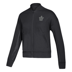 Maple Leafs Adidas Ladies Culture Mesh Bomber Jacket