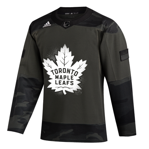 Maple Leafs Adidas Men's Authentic Practice Camo Jersey