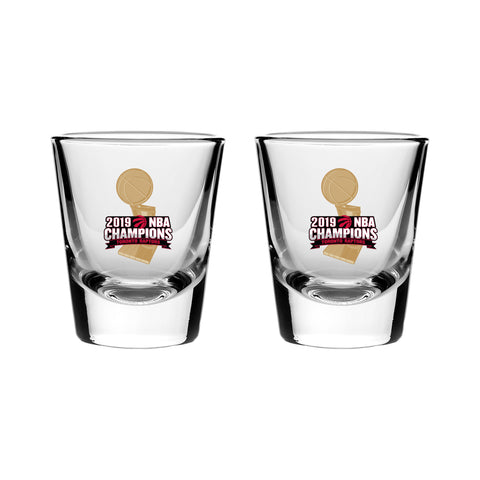 Raptors  2019 NBA Champs 2-Pack Shot Glass Set