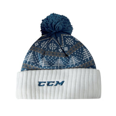 Marlies CCM Men's Festive Cuffed Pom Toque