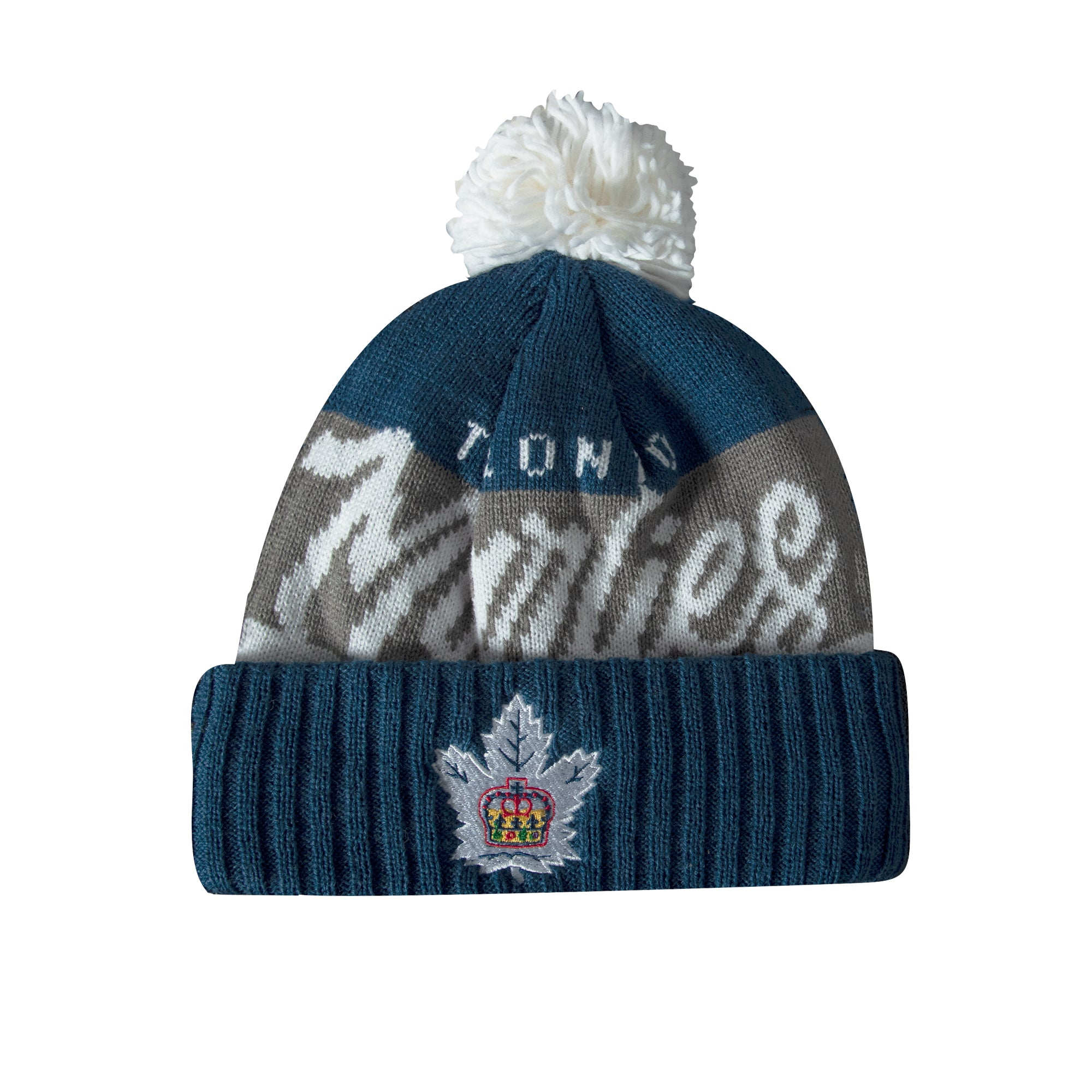 Marlies CCM Men's Vintage Chunky Cuffed Pom Toque