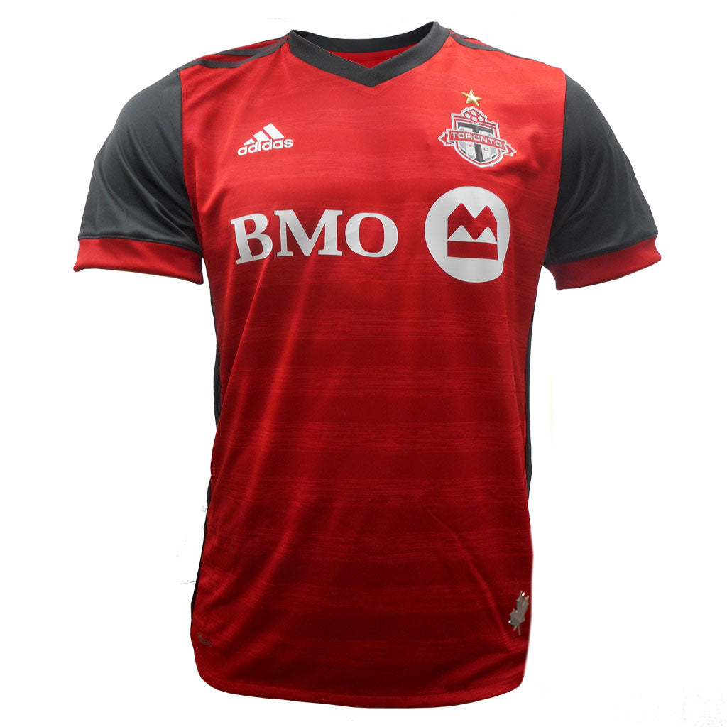 Toronto FC Adidas Men s Authentic S S Jersey- Red – shop.realsports 8bf4eebd8
