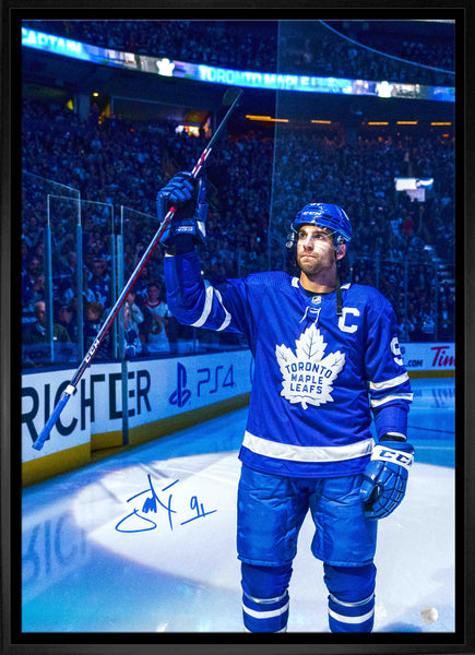 "Tavares Signed Maple Leafs Captain ""Salute"" Canvas Framed"