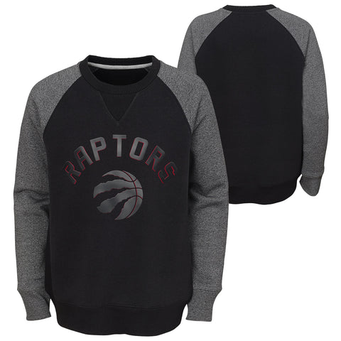 Raptors NBA Youth Titanium Raglan Crew Sweater