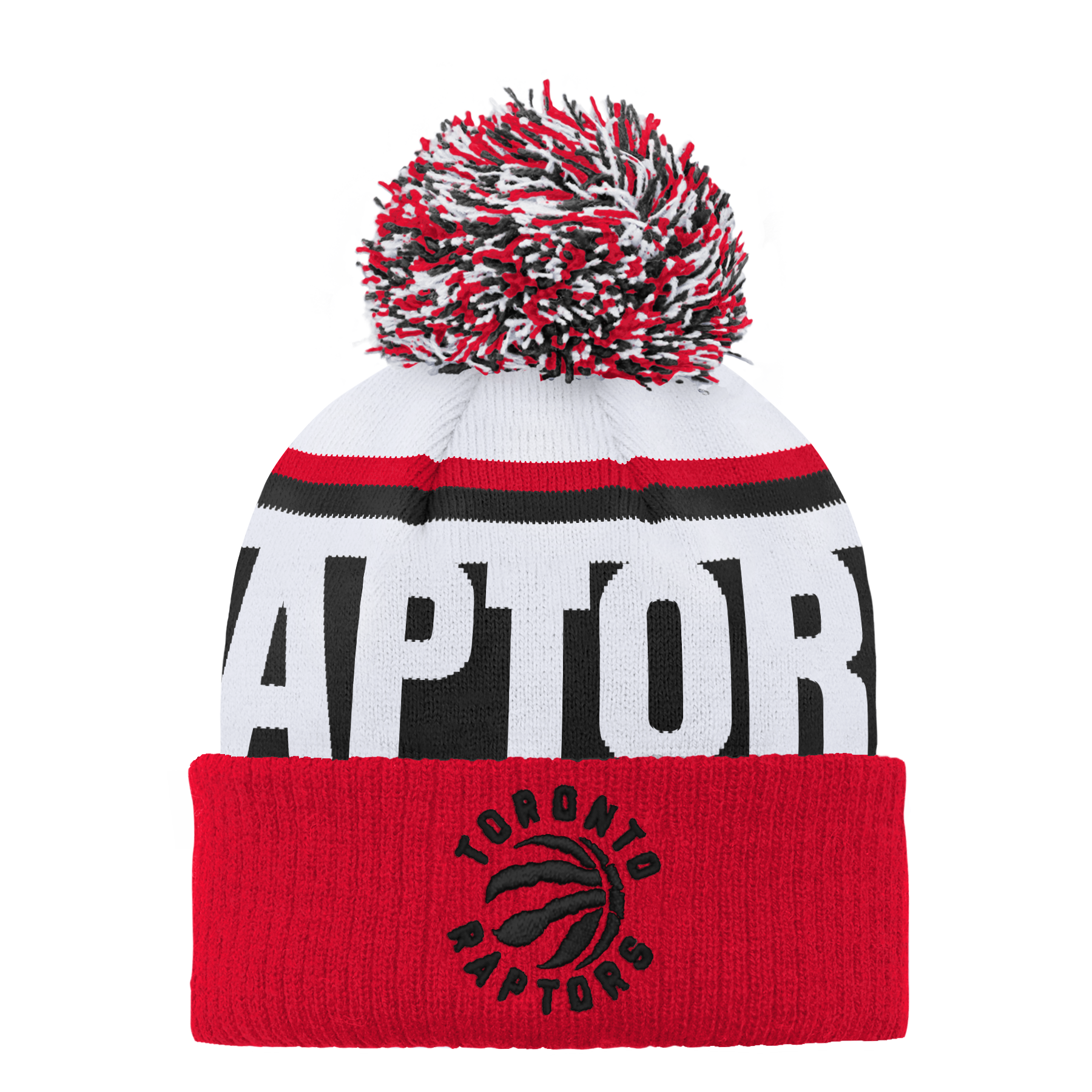 Raptors Youth Ultra Jacquard Cuffed Pom Toque