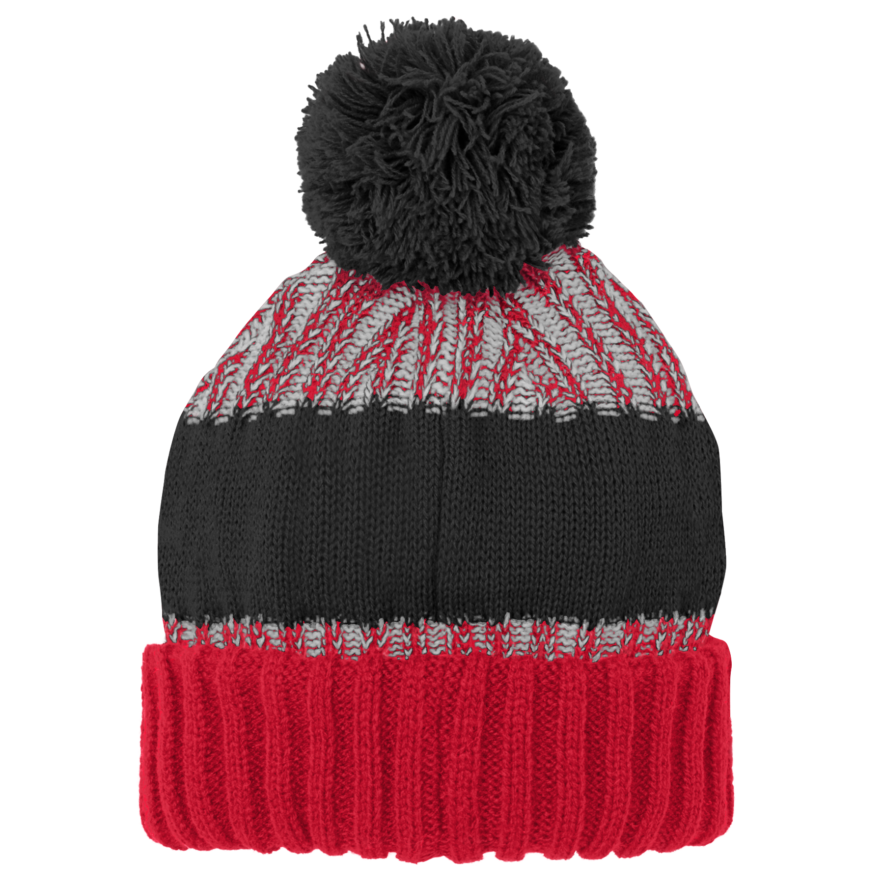 Raptors Youth Reverse Gauge Cuffed Pom Toque