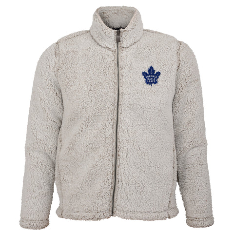 Maple Leafs Youth Time Honoured Teddy Fleece Full Zip Hoody