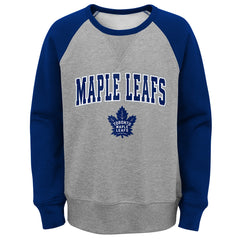Maple Leafs NHL Youth Chief Contrast Crew Sweater