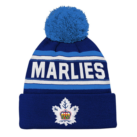 Marlies Youth Wordmark Cuffed Pom Toque