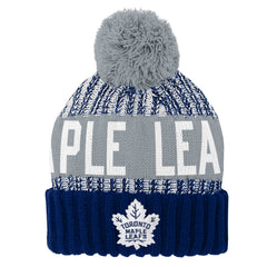Maple Leafs Youth Reverse Gauge Cuffed Pom Toque