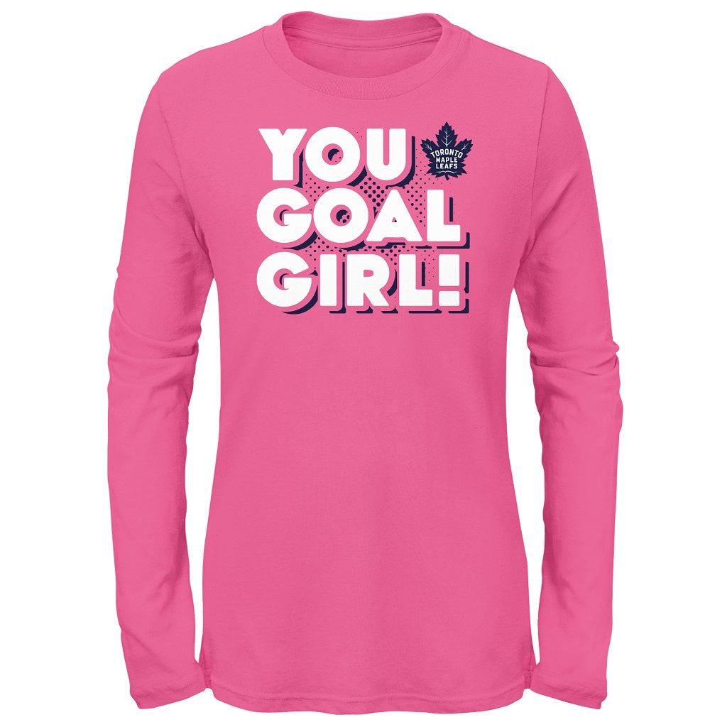 Maple Leafs Toddler Girls 'You Goal Girl' Long Sleeve Shirt