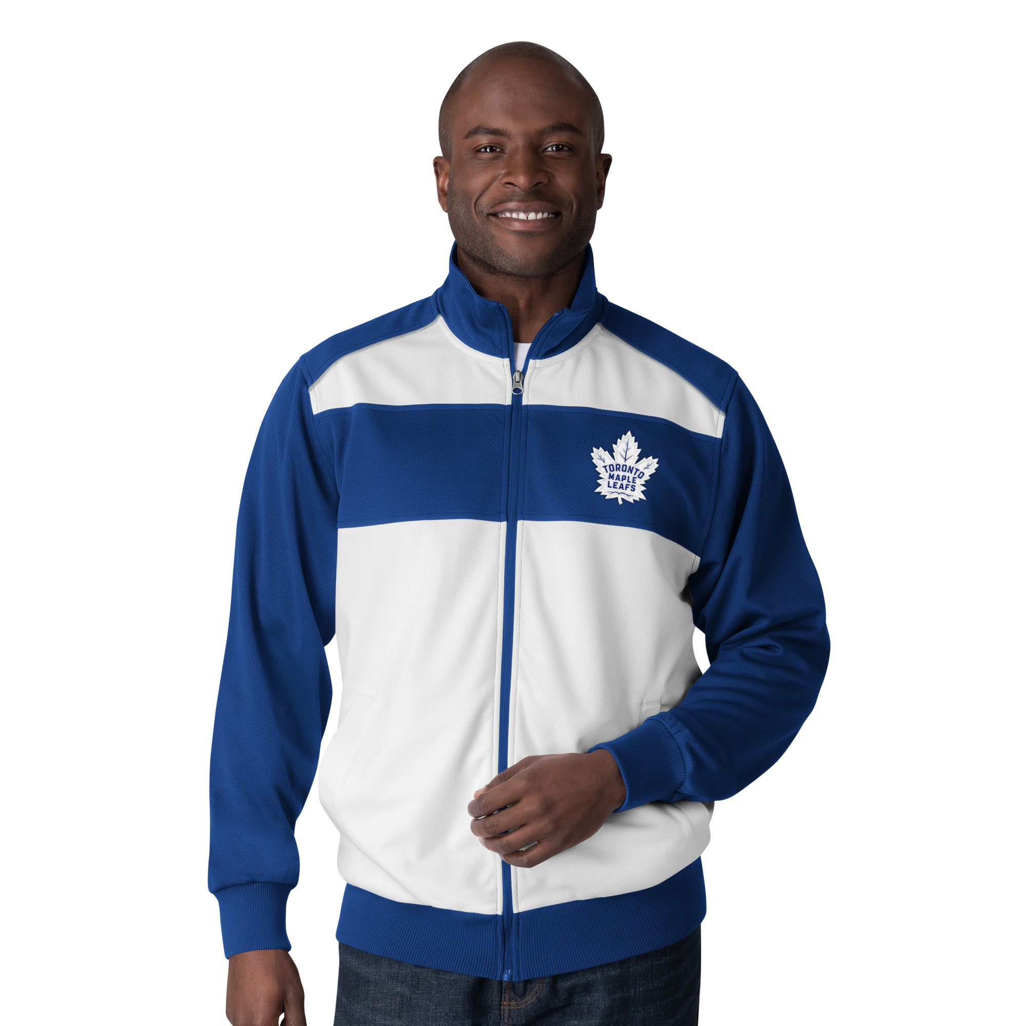 Maple Leafs GIII Men's Crossover Track Jacket