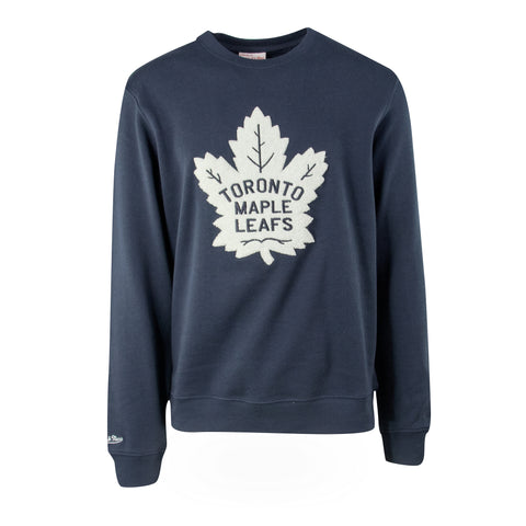 Maple Leafs Mitchell & Ness Men's Heritage Crew - Navy