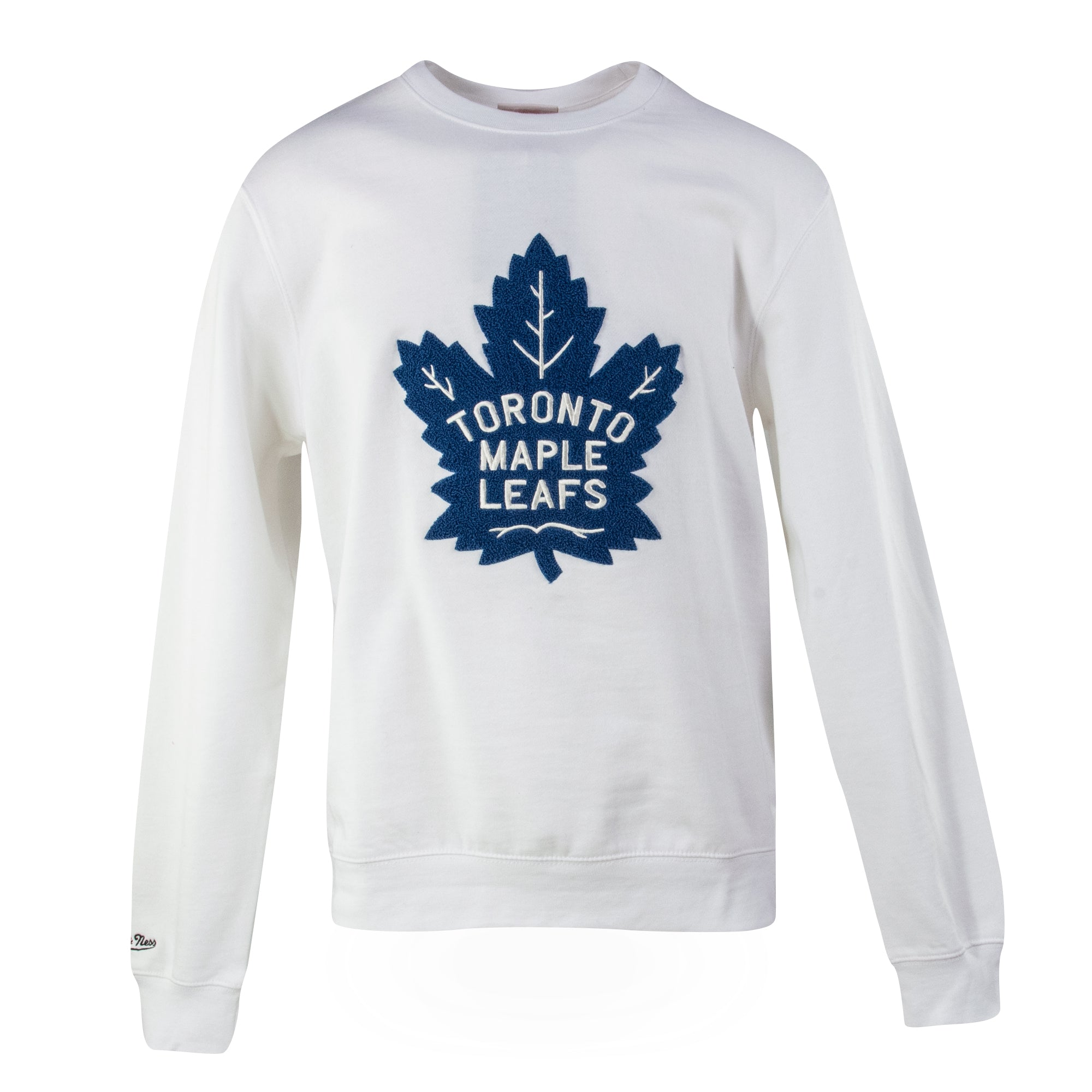 Maple Leafs Mitchell & Ness Men's Heritage Crew - White