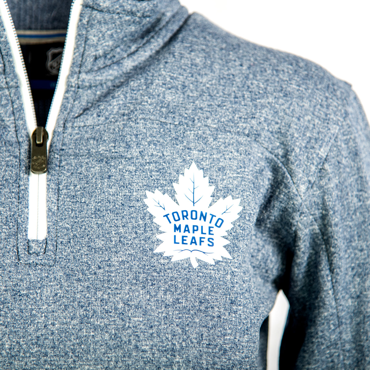 Toronto Maple Leafs Youth Polymer 1/4 Zip Sweater