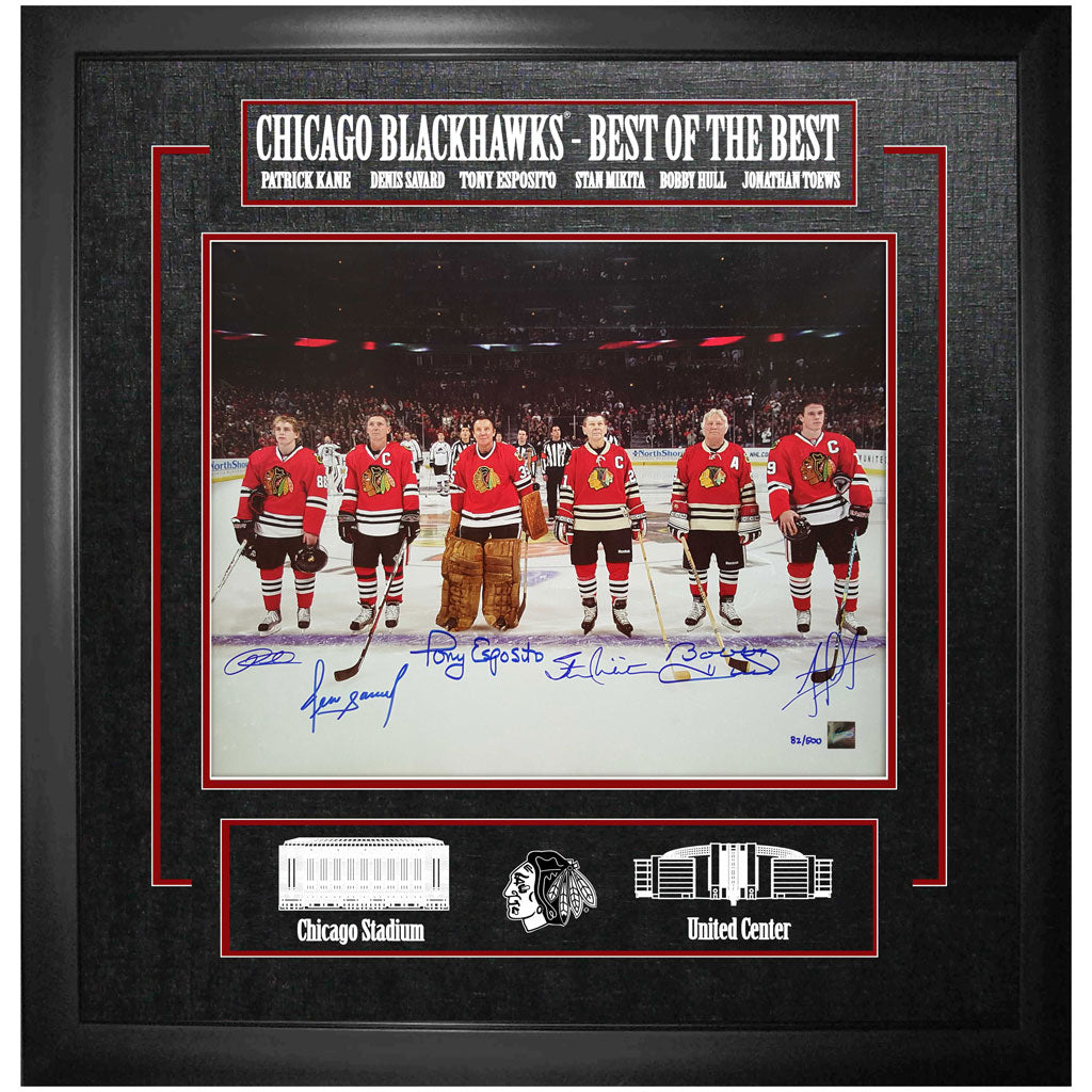 Best of the Best Chicago Blackhawks  Multi Signed Frame