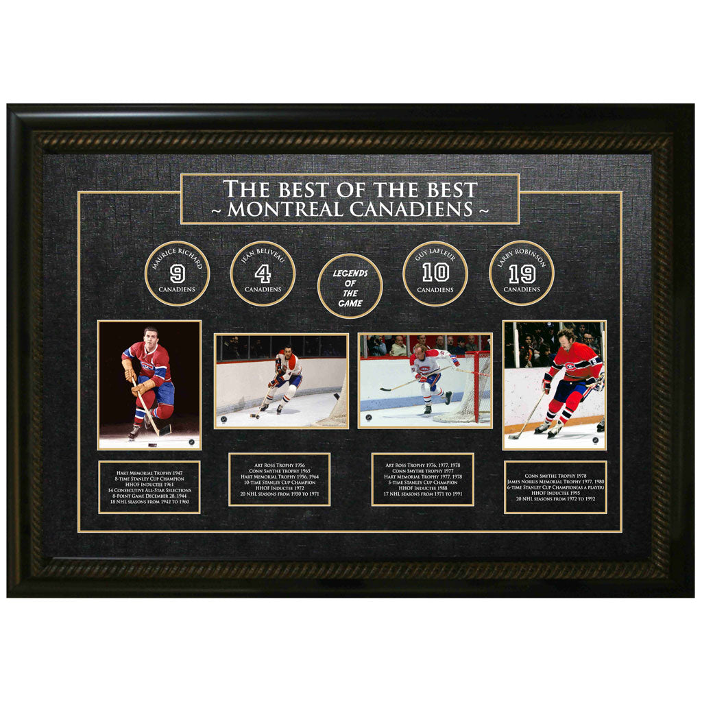 Best of The Best Unsigned Canadiens Greats Unsigned Frame