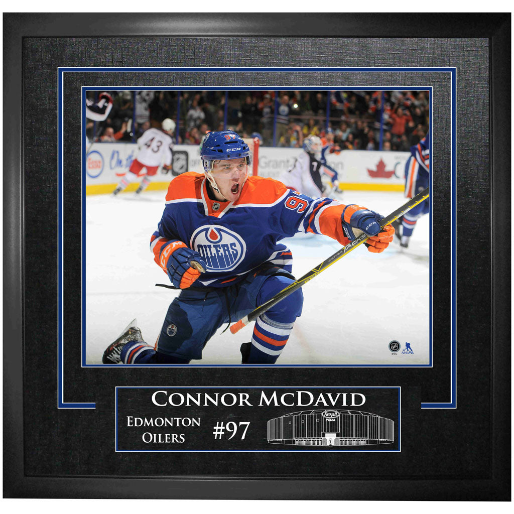 McDavid Oilers Unsigned Etched Mat Frame