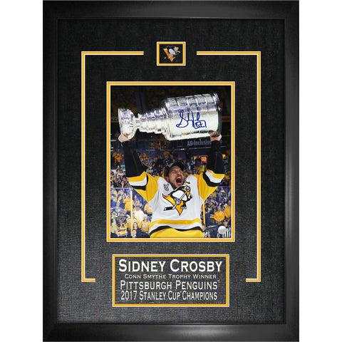 Crosby Penguins Signed 2017 Stanley Cup Frame