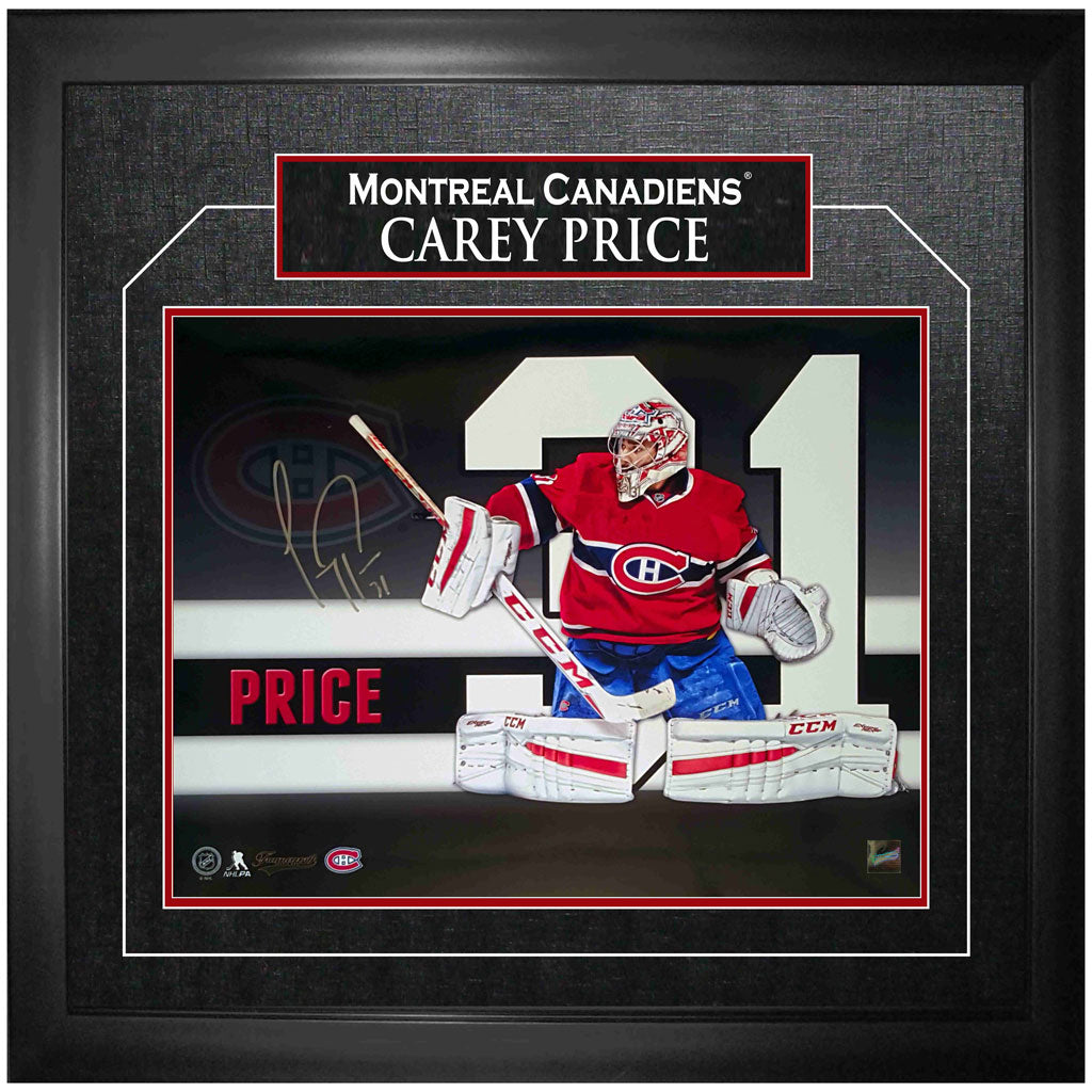 Price Canadiens Signed Framed Number Print